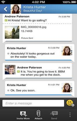 BlackBerry to iPhone-instant messaging apps for iphone and blackberry