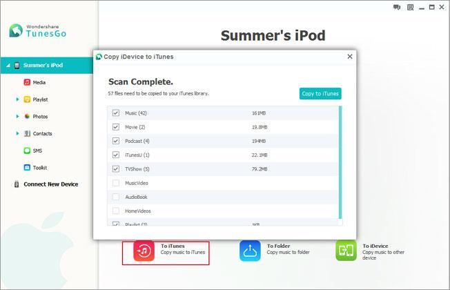 Transferir contatos de ipod para ipod