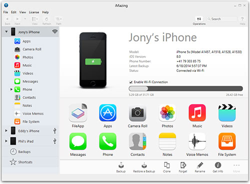 mobile transfer software-iMazing for iPhone