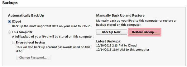Transfer from old iPad to new iPad-copy old iPad data to ipad air