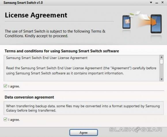 Transfer Nokia contacts to Galaxy-download and run Samsung Smart Switch