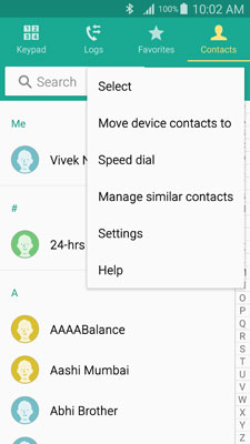 Transfer contacts from Samsung to Samsung-image for step 5