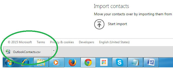 transfer data from Winphone to Android-download contacts