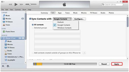 Transferir contatos de android para iphone