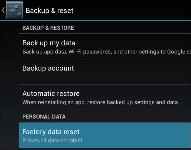 reset android without home button-factory data reset