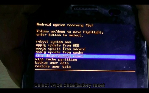 how to hard reset android-recovery menu