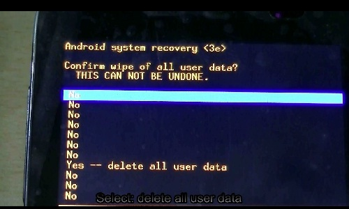 how to hard reset android-delete all user data