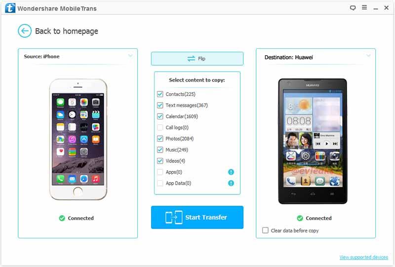 mobiletrans phone transfer-phone to phone transfer