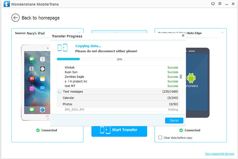 Transfer from iPad to Samsung -transfer from ipad to android