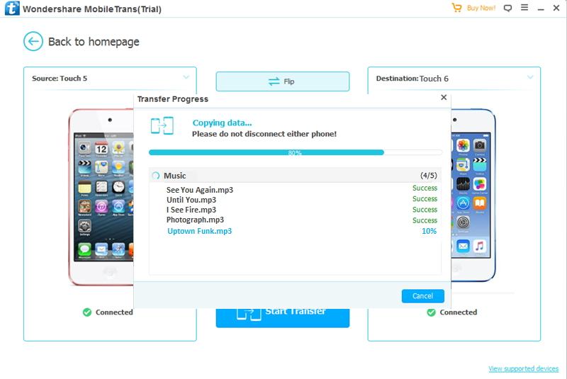 Transferência do iPod para o iPod