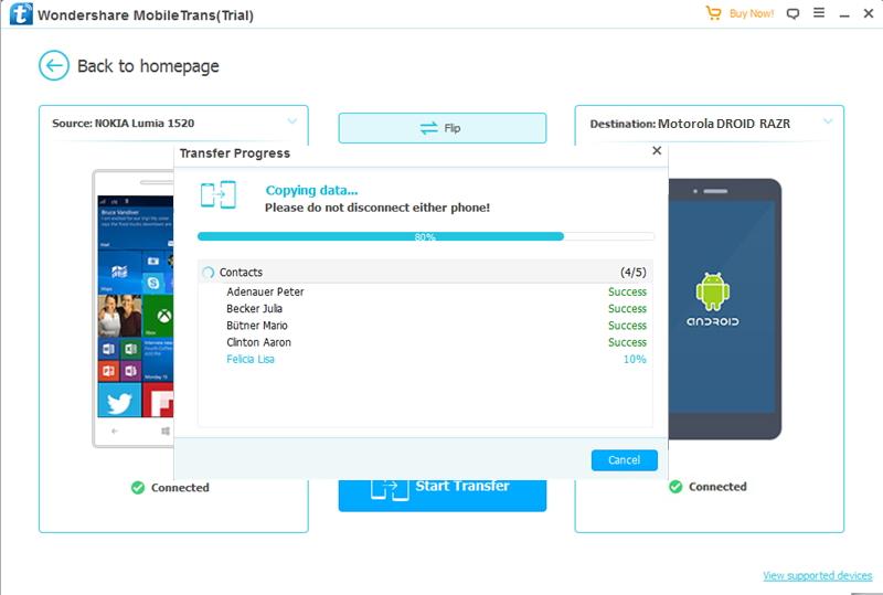 Nokia to Motorola-transfer contacts from Nokia to Motorola
