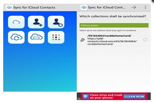 Transfer data between iOS and Android-Sync for iCloud Contacts