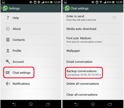 Three ways to transfer whatsapp messages from Android to Android-transfer whatsapp messages