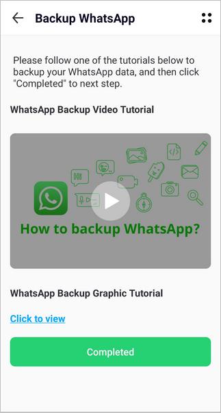 02 استخراج نسخة WhatsApp احتياطية لتطبيق Wutsapper على هاتف Android